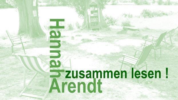 FÄLLT AUS! Zusammen lesen: Hannah Arendt