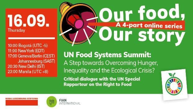 UN Food Systems Summit: A Step towards Overcoming Hunger, Inequality and the Ecological Crisis?