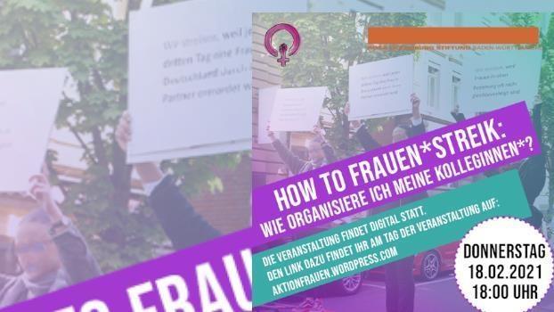 How to Frauen*streik – wie organisiere ich meine Kolleginnen?