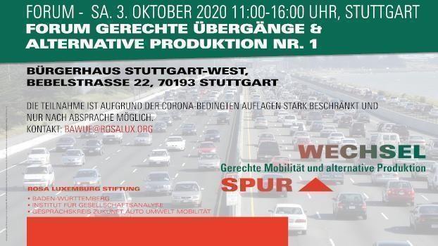 Forum Gerechte Übergänge und alternative Produktion 1