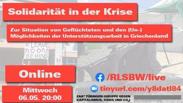 «Solidarität in der Krise»: Livestream und Video-Diskussion