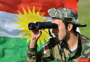 Peshmerga auf dem Rückzug
