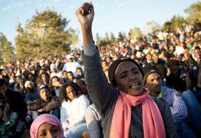 Protest gegen Massenabschiebung afrikanischer Geflüchteter