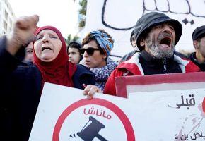 Leere Taschen in Tunesien