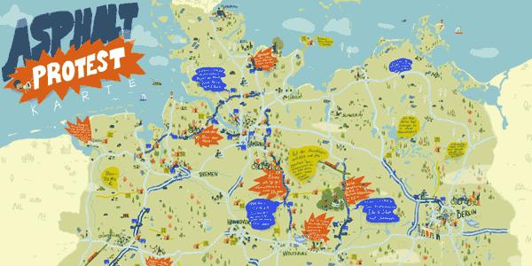 Asphalt Protest Karte