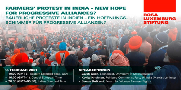 Farmers´ Protests in India - New Hope for Progressive Alliance